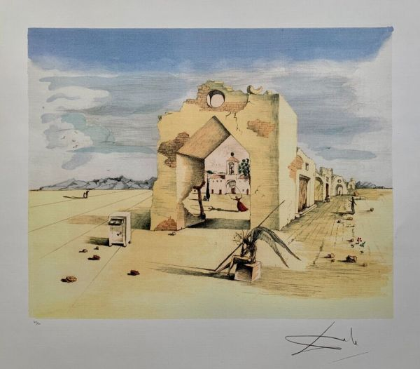 Salvador Dali Paranoic Village Signed Limited Edition