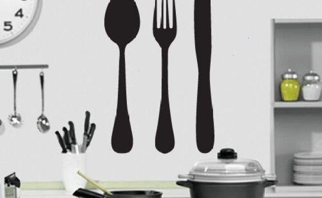 Knife Fork And Spoon Kitchen Wall Art Design Kitchen