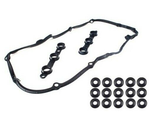 Valve Cover Gasket Set With 15 Bolt Seals For BMW E38 E39