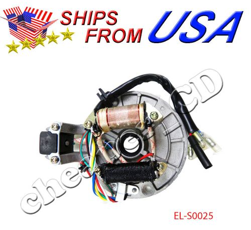 small resolution of 2 coil 70 90 110 125 cc magneto stator plate dirt pit bike 110cc 4 wheeler wiring diagram 110 quad wiring diagram