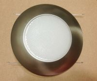 "6"" INCH RECESSED CAN LIGHT SATIN NICKEL SHOWER TRIM ..."