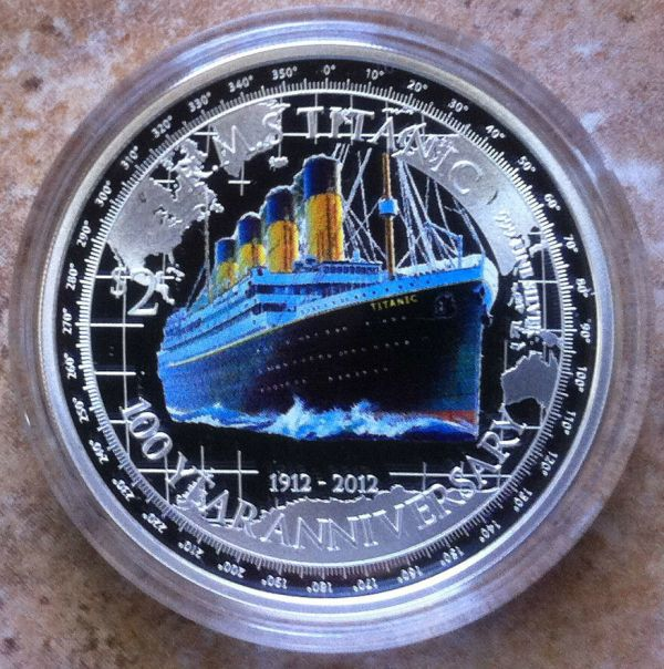 Titanic Rms 2012 2 Niue 1oz 999 Proof Silver Coin 100th