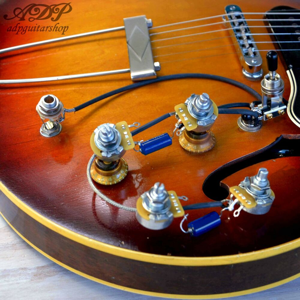 medium resolution of kit control electro cable es 335 vintage wiring harness vintage les paul wiring diagram les paul