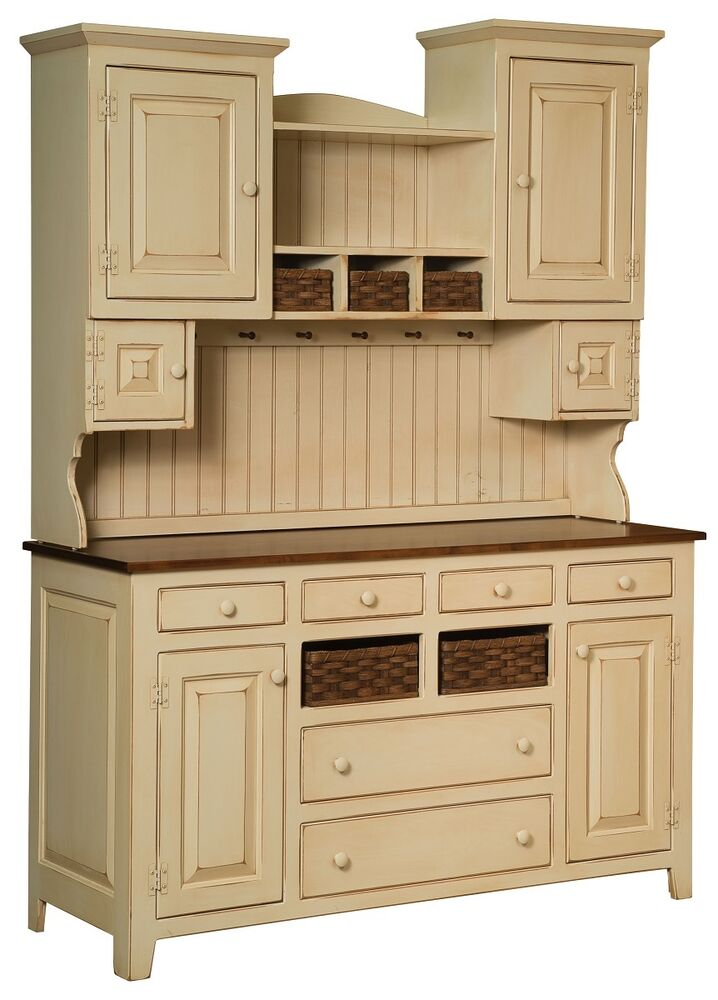 Amish Sadies Hutch Primitive Kitchen Country Farmhouse