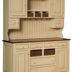 Bakers Racks For Kitchens Home Depot Kitchen Faucets Delta Amish Sadies Hutch Primitive Country Farmhouse ...