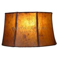 "Southwestern Rawhide - Leather Lamp Shade-8.5""Hx14""Wx12.5 ..."