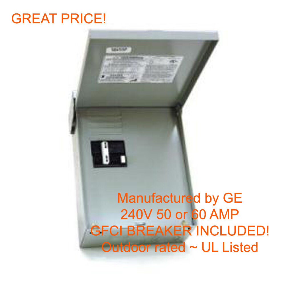 50a Receptacle Wiring Diagram 60 Amp Gfci Gfi Spa Hot Tub Disconnect With Outdoor Box