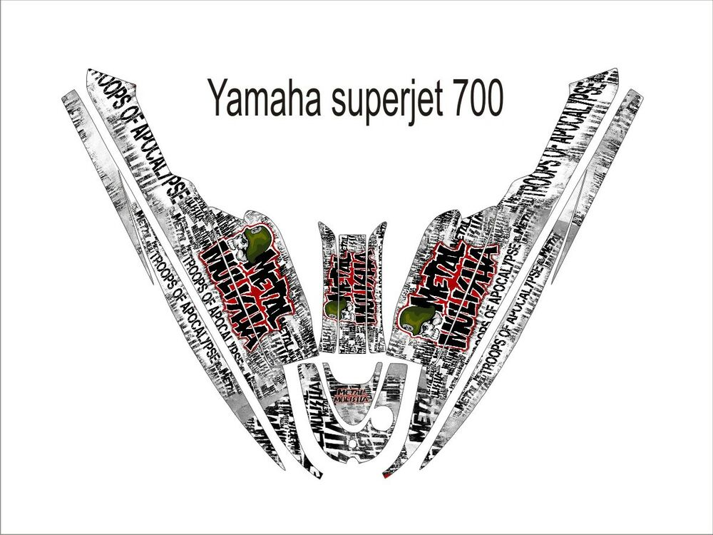 YAMAHA SUPER JET 700 jet ski wrap graphics pwc stand up