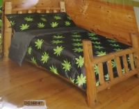 NEW REGAL COMFORT MARIJUANA POT LEAF TWIN COMFORTER
