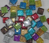 Glitter tiles for mosaic art & craft choice of colours ...
