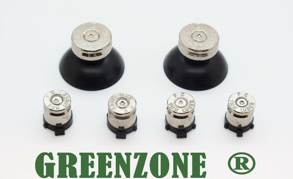 GREENZONE PS4 Controller Bullet Buttons Amp Silver TOP
