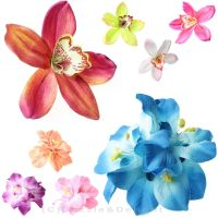 HAIR FLOWER CLIP WEDDING HAIR FLOWERS ORCHID LILY HAIR ...