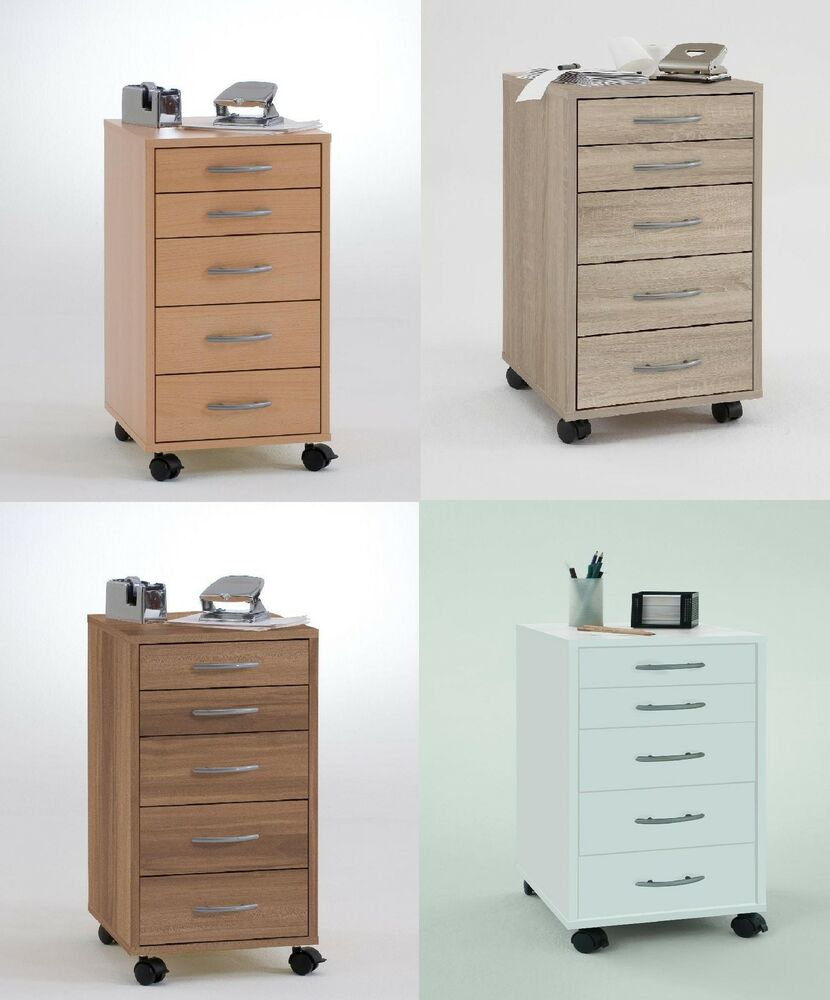 UnderDesk Storage Filing Drawers With Castor Wheels For