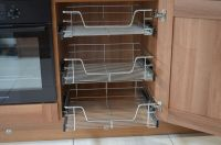 PULL OUT WIRE BASKETS FOR KITCHEN LARDER CUPBOARDS 300mm ...