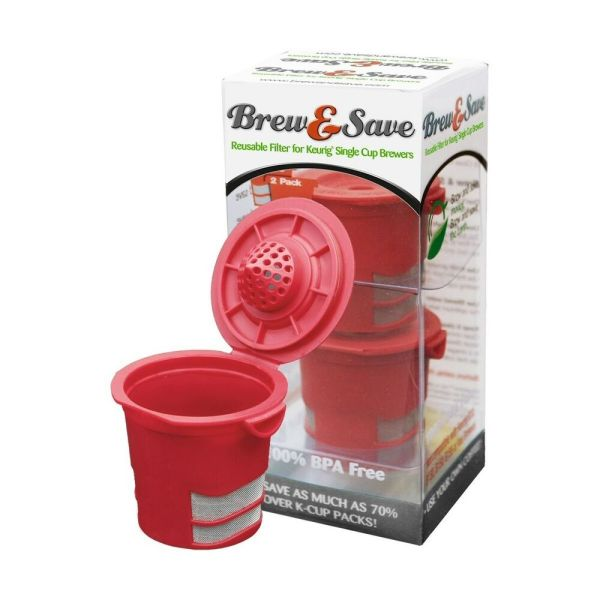 Brew & Save Reusable -cup Filter Keurig Single Cup Coffee Makers - 2pk