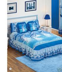 New Blue Dolphins Delfines Bedspread Bedding Set Twin 2PC ...