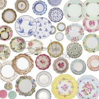 LUXURY PAPER PLATES - Shabby Chic / Vintage Style for ...