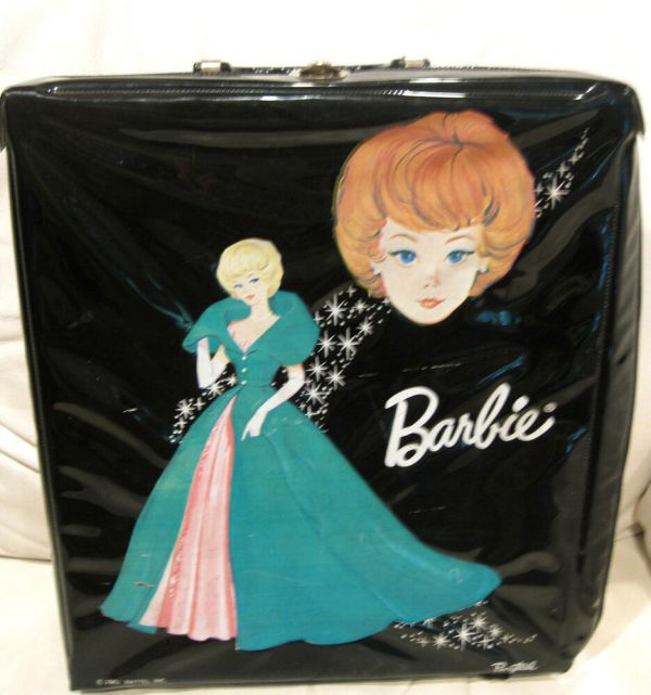 Rare 1963 Mattel Barbie Doll Black Carrying Case Ponytail Sophisticated Lady