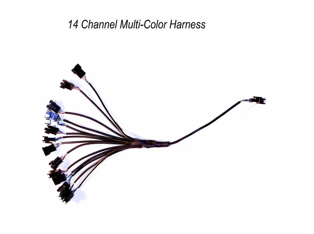 14 Channel LED Multi-Color Accent Light Harness RGB