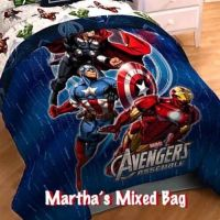 MARVEL AVENGERS Boys Comics SUPERHEROES Full Size BLUE ...