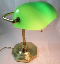 Vintage Classic Bankers Office Desk Lamp Piano Light Brass ...