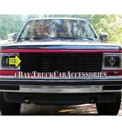 details about 82 90 chevy s10 pickup blazer gmc s15 pick up jimmy black grille replacement 1pc [ 1000 x 1000 Pixel ]