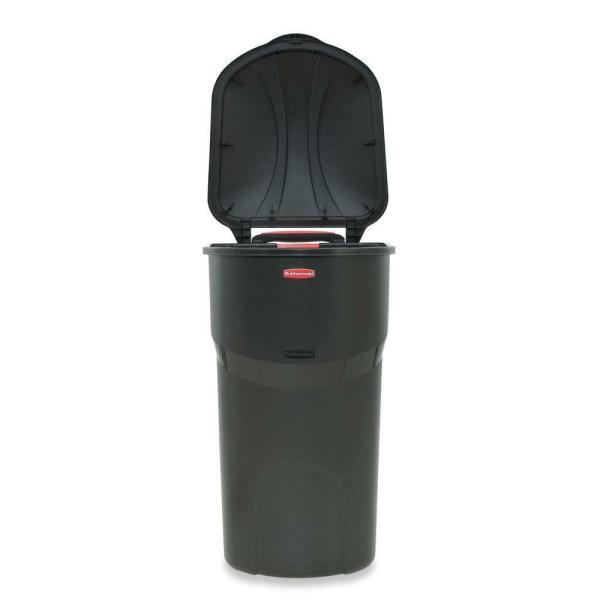 Rubbermaid Roughneck 45 Gal. Black Wheeled Trash With Lid
