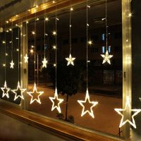 Warm White 12 Twinkling Stars Christmas Fairy String ...