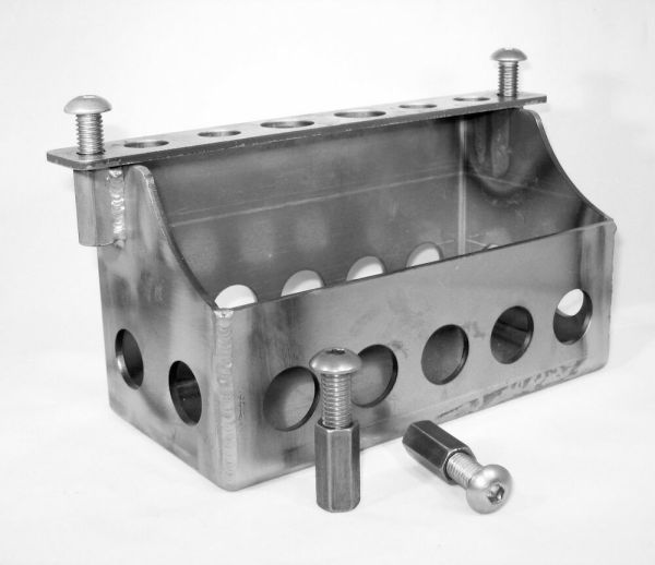 Custom Motorcycle Battery Box With Hardware - Chopper Bobber