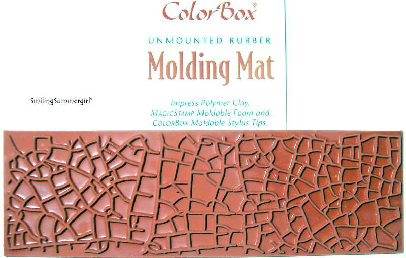 Polymer Clay Molding Mat Texture Rubber Stamp Crackle EBay