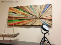 Rustic Reclaimed Teak Wood Abstract Wall Decor Art Antique ...