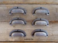 Set Of 6 Beautiful Vintage Style Cast Iron Cabinet Drawer ...