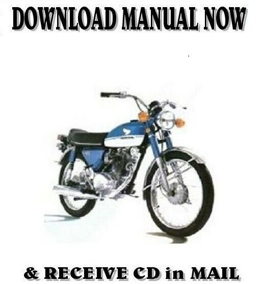 Honda CB100 CB125 SL125 1969-1972 factory repair shop