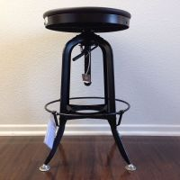 TOLEDO DRAFTING METAL BAR STOOL INDUSTRIAL VINTAGE
