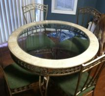 Marble Kitchen Table And 4 Chairs