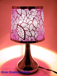 "Stainless Steel Table Touch Lamp, Leaf 12.6"" (Purple ..."