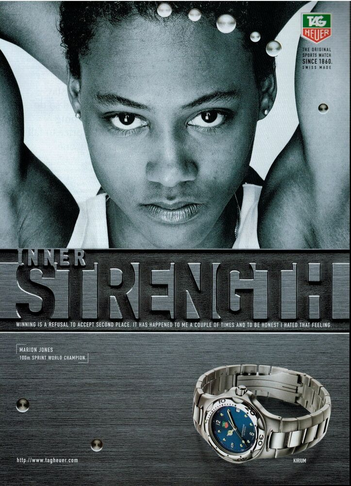 1998 TAG HEUER Kirium Watch MARION JONES Magazine Print AD EBay