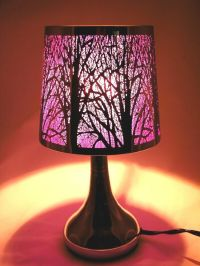 "Stainless Steel Table Touch Lamp, Tree 12.6"" (Purple ..."