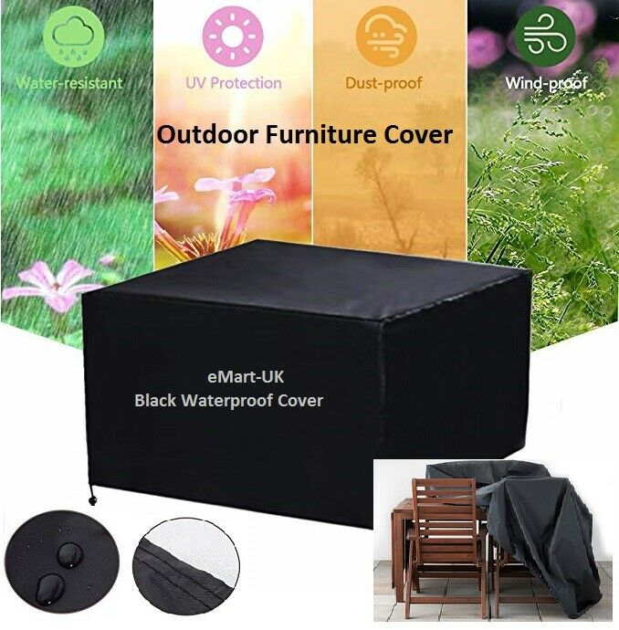 OUTDOOR RATTAN FURNITURE COVER UV WATERPROOF TABLE FURNITURE HEAVY DUTY COVER EBay