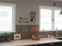 Personalized Kitchen Sign Wall Stickers Wall Art Vinyl ...