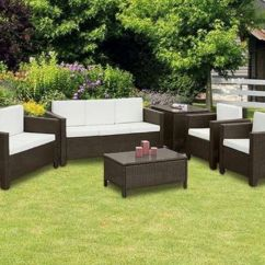 Rattan Sofa Set Uk Blue Fabric Sectional Garden Furniture Chairs Table Conservatory ...