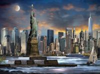 STATUE OF LIBERTY New York City NYC Painting Giclee Canvas ...