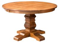 Amish Round Pedestal Dining Table Solid Wood Rustic ...