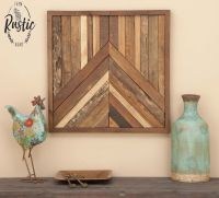 Reclaimed Teak Geometric Square Wood Sculpture Wall Decor ...