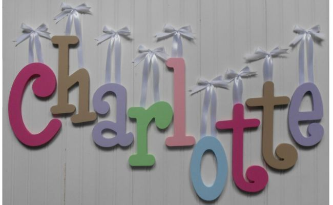 Wood Wall Letters 8 Size Painted Wooden Names Children