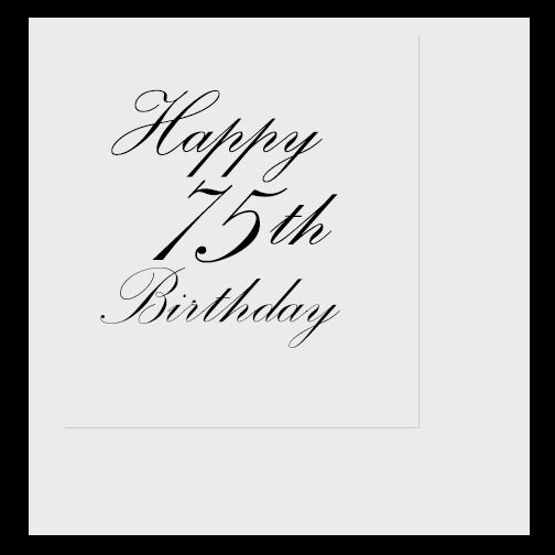 Happy 75th Birthday (Age 75) Party Supplies CLASSY BLACK