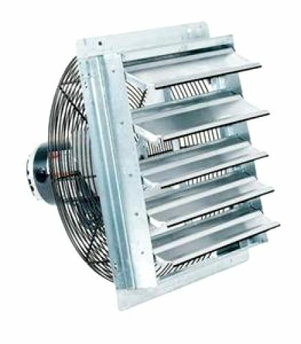 "Fantech Industrial Garage Exhaust 10"" Shutter Air Fans"