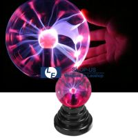 New USB Magic Crystal Globe Desktop Light Lightning Lamp