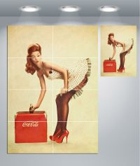 Coca Cola Vintage Pin Up Girl Giant Wall Art poster Print