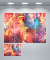 Psychedelic Trippy Colourful Giant Wall Art poster Print ...
